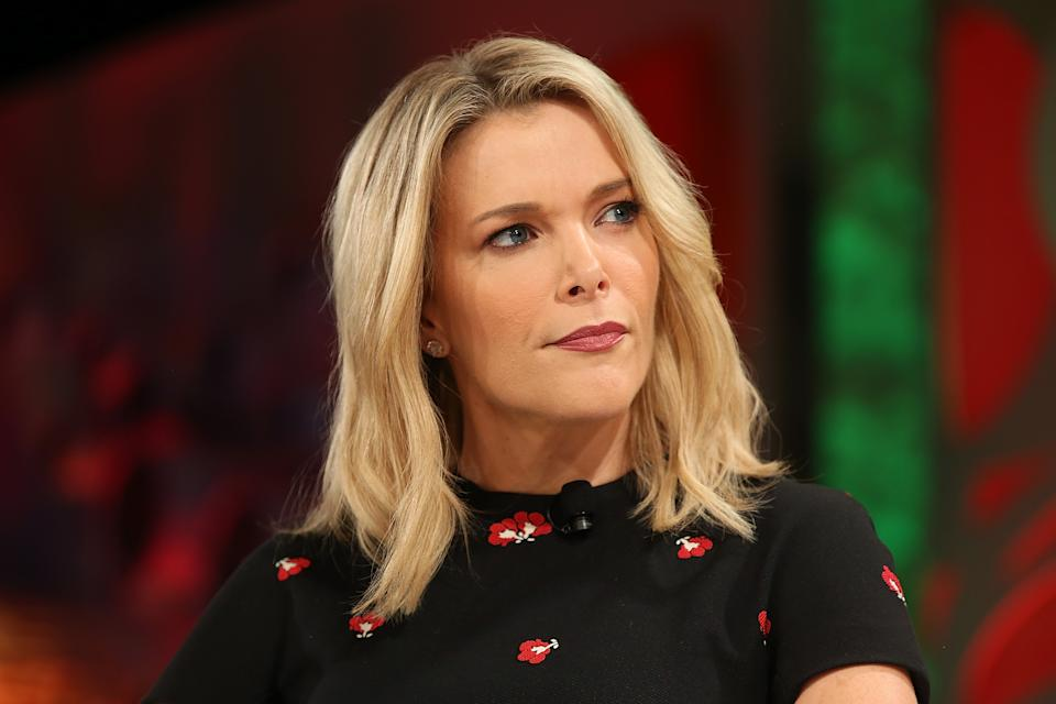 Megyn Kelly (pictured) speaks onstage at the Fortune Most Powerful Women Summit in 2018.