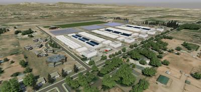 Artist rendering of planned expansion at Zoned Properties' Chino Valley Cultivation Facility: Operations View.