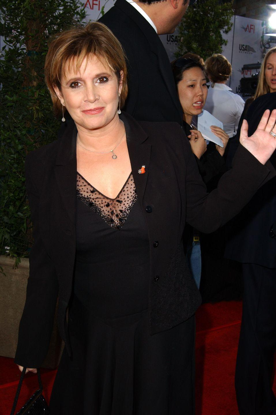 "<p>In 2005, Carrie's impact on the film industry was recognized by Women in Film & Video of Washington DC with the <a href=""https://carriefisher.com/about/"" rel=""nofollow noopener"" target=""_blank"" data-ylk=""slk:Women of Vision Award"" class=""link rapid-noclick-resp"">Women of Vision Award</a>. </p>"