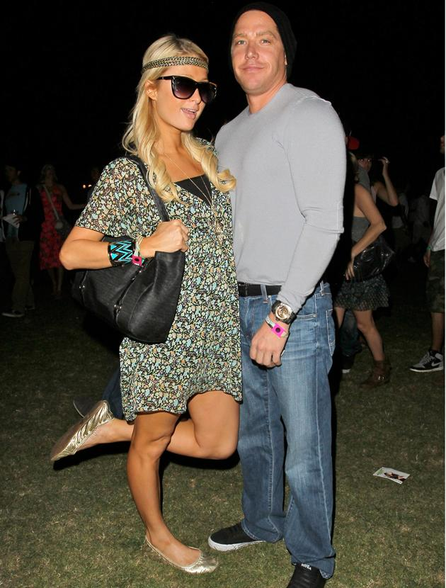 Celebrities at festivals photos: Party girl Paris Hilton headed to Coachella for some field-based frolics last year and swapped her pink outfits for a festival –appropriate floral dress.
