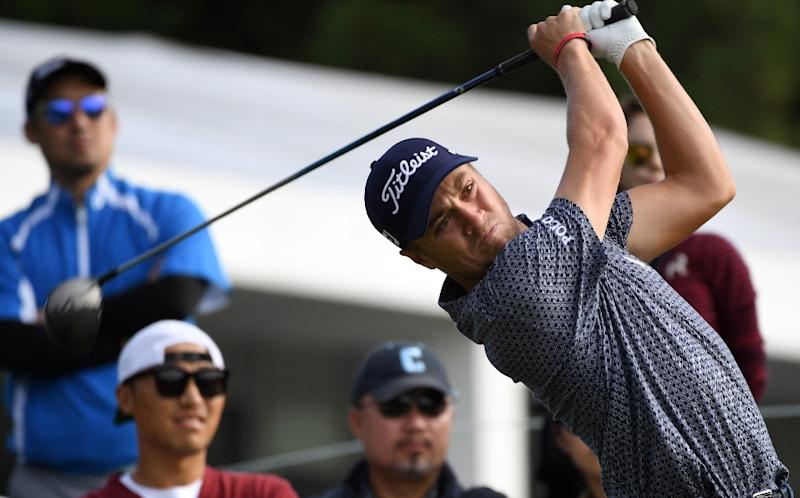 Justin Thomas, one of the players at the PGA Tour's Sony Open in Hawaii, is pictured during the CJ Cup golf tournament at Nine Bridges in Jeju Island in October 2017