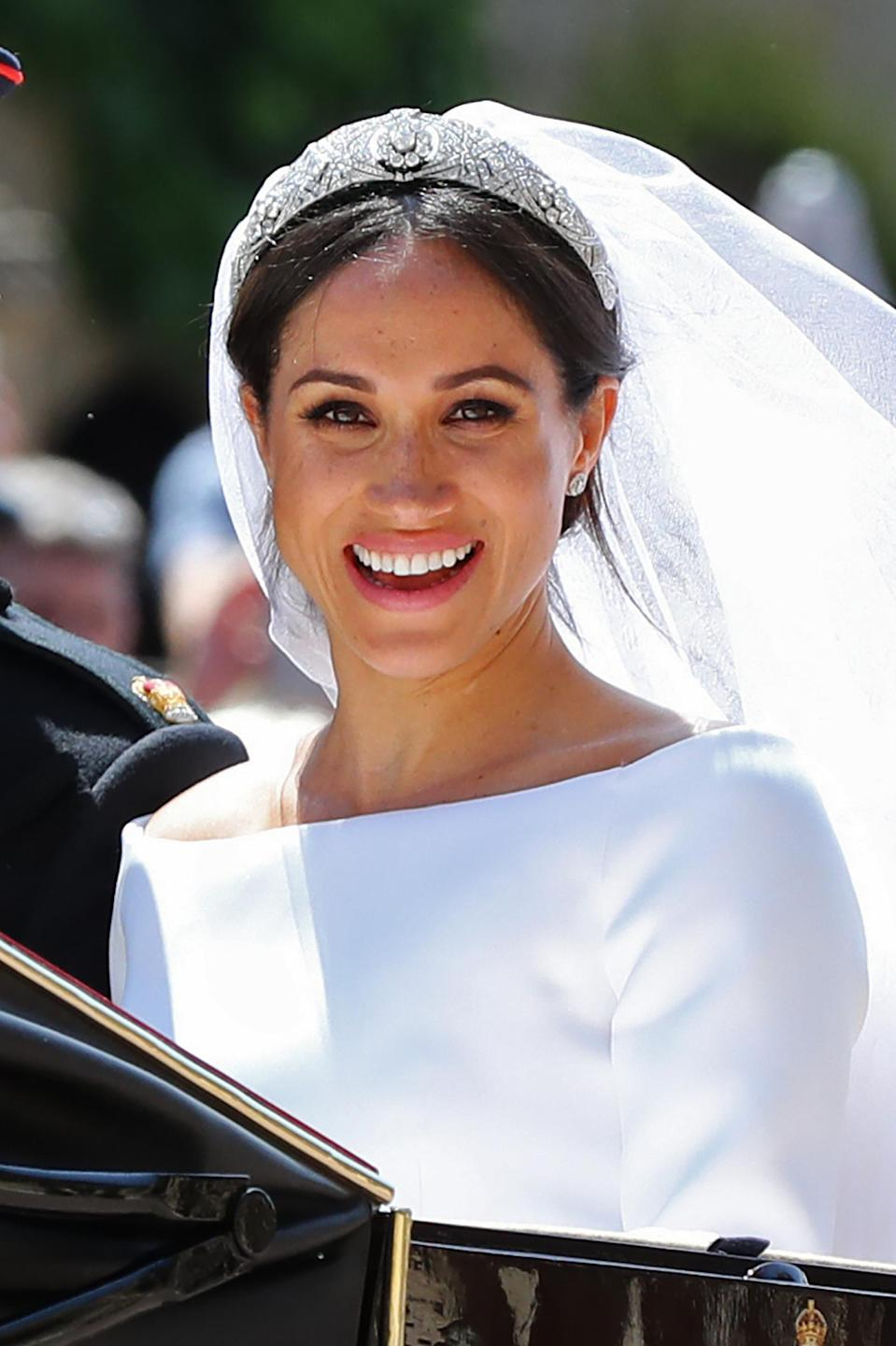 Meghan Markle on her wedding day. (Photo: Getty Images)