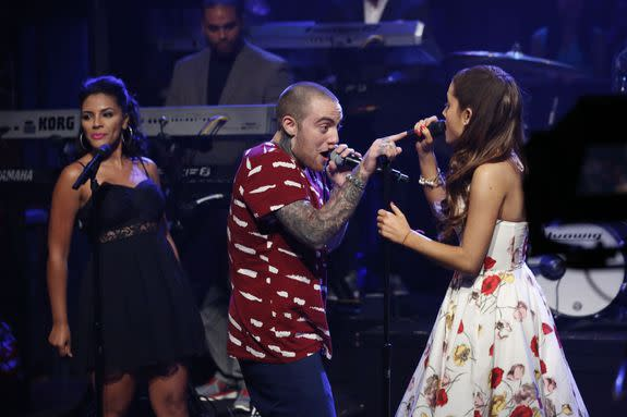 Ariana Grande featuring Mac Miller performs on June 14, 2013.