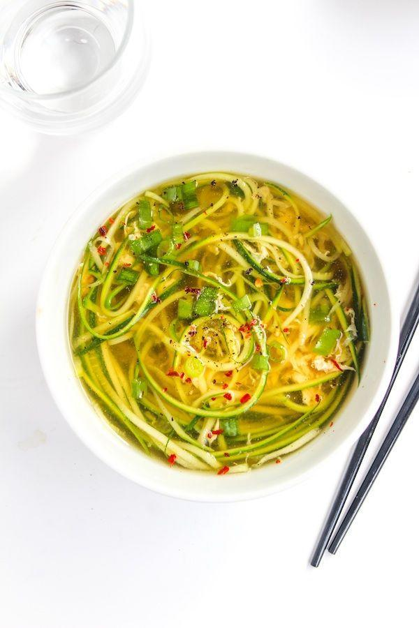 "<p>Toss your takeout menus. This soup takes only 20 minutes to make.</p><p>Get the recipe from <a href=""http://www.asaucykitchen.com/ginger-and-spring-onion-egg-drop-soup/"" rel=""nofollow noopener"" target=""_blank"" data-ylk=""slk:A Saucy Kitchen"" class=""link rapid-noclick-resp"">A Saucy Kitchen</a>.</p>"