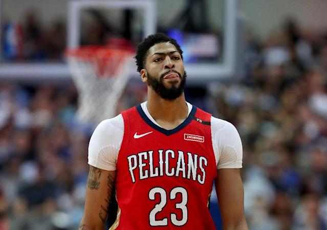 New Orleans Pelicans ace Anthony Davis is unconcerned by the chaos at the Los Angeles Lakers as he mulls his next career move (AFP Photo/TOM PENNINGTON)