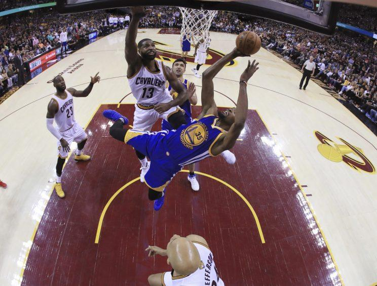 Tristan Thompson finally made an impact in Game 5. (AP)