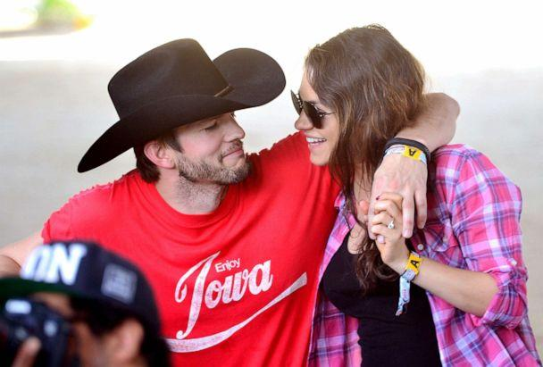 PHOTO: Ashton Kutcher and Mila Kunis attend an event on April 25, 2014, in Indio, Calif. (Frazer Harrison/Getty Images, FILE)