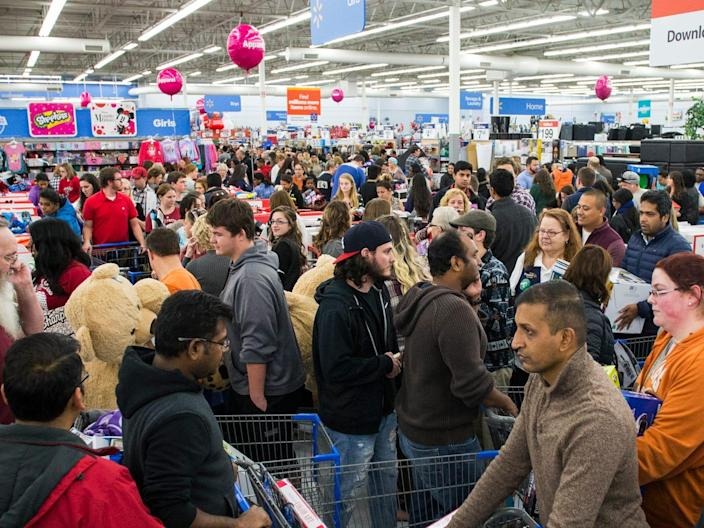 Black Friday sales typically draw huge crowds to Walmart.