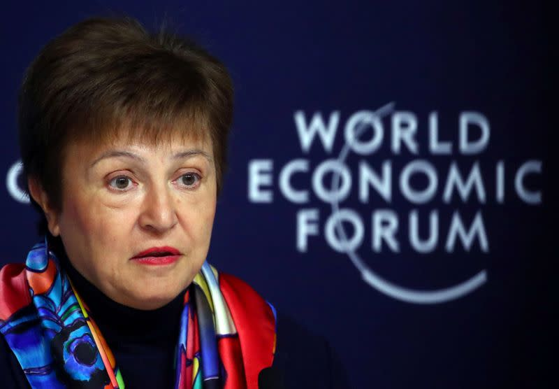 IMF news conference ahead of the World Economic Forum (WEF) in Davos