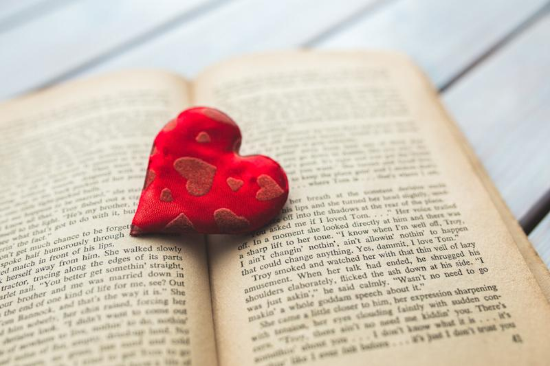 Book with love heart