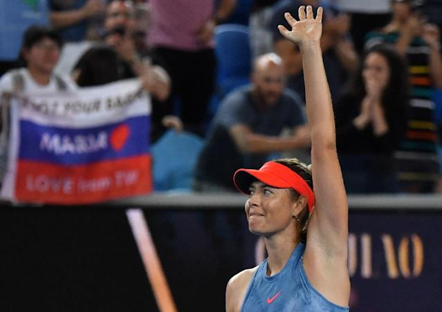 Maria Sharapova has dropped just three games in her opening two matches (AFP Photo/Paul Crock)