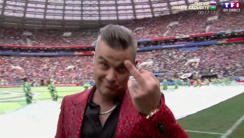 Coupe du monde 2018: le doigt d'honneur de Robbie Williams