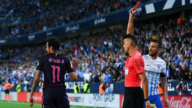 Luis Enrique feels the referee was wrong to dismiss Neymar in Barcelona's loss against Malaga, but stressed the Catalans are used to it.