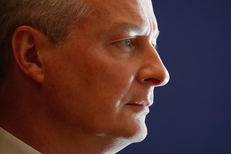 French Finance Minister Bruno Le Maire attends a news conference to release the Folz report about EDF's long-delayed Flamanville nuclear plant, at the Bercy Finance Ministry in Paris
