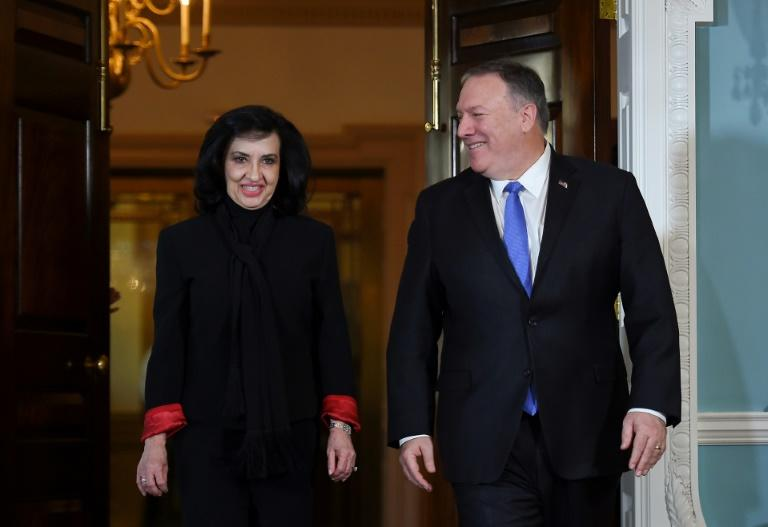 Colombia's Foreign Minister Claudia Blum met with US Secretary of State Mike Pompeo for the first time since she took office in November 2019