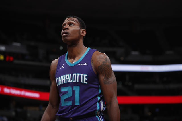 "Former Charlotte Hornet <a class=""link rapid-noclick-resp"" href=""/nba/players/5539/"" data-ylk=""slk:Treveon Graham"">Treveon Graham</a> will join the <a class=""link rapid-noclick-resp"" href=""/nba/teams/bro"" data-ylk=""slk:Brooklyn Nets"">Brooklyn Nets</a>. (AP Photo/David Zalubowski)"