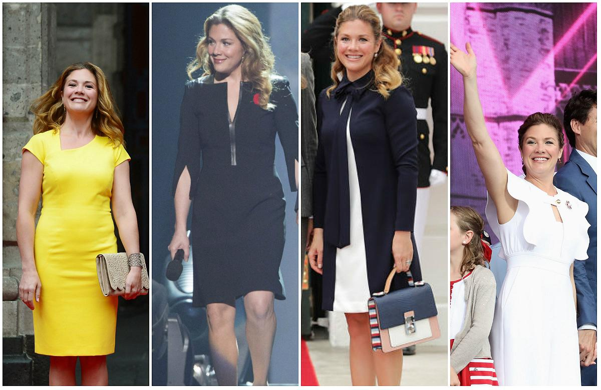 """<p>Sophie Grégoire Trudeau's style can only be described as modern and innovative. From fitted vegan suede dresses to mod tapestry pouches, Canada's """"First Lady"""" has made a point of <a rel=""""nofollow"""" href=""""https://ca.style.yahoo.com/sophie-trudeau-stuns-one-meghan-slideshow-wp-130312213.html"""">rocking Canadian designer labels and accessories</a>, but she isn't afraid to explore the <a rel=""""nofollow"""" href=""""https://ca.style.yahoo.com/justin-trudeaus-son-wore-adorable-dress-halloween-not-everyone-happy-165840458.html"""">unpredictable</a>. Click through the gallery for the top 10 moments Trudeau wowed us in 2017.<br />Did we miss any outfits that you think should be on this list?<em> (Photos: Getty/CP)</em> </p>"""