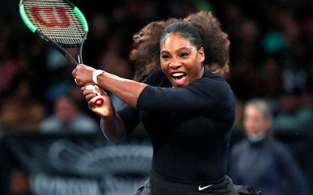 Serena Williams took part in the Tie Break Tens tournament at Madison Square Garden on Monday night - AP