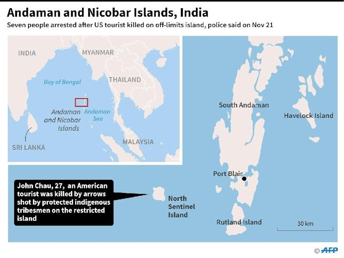 The isolated tribe lives on North Sentinel, one of the Andaman and Nicobar islands in the Bay of Bengal