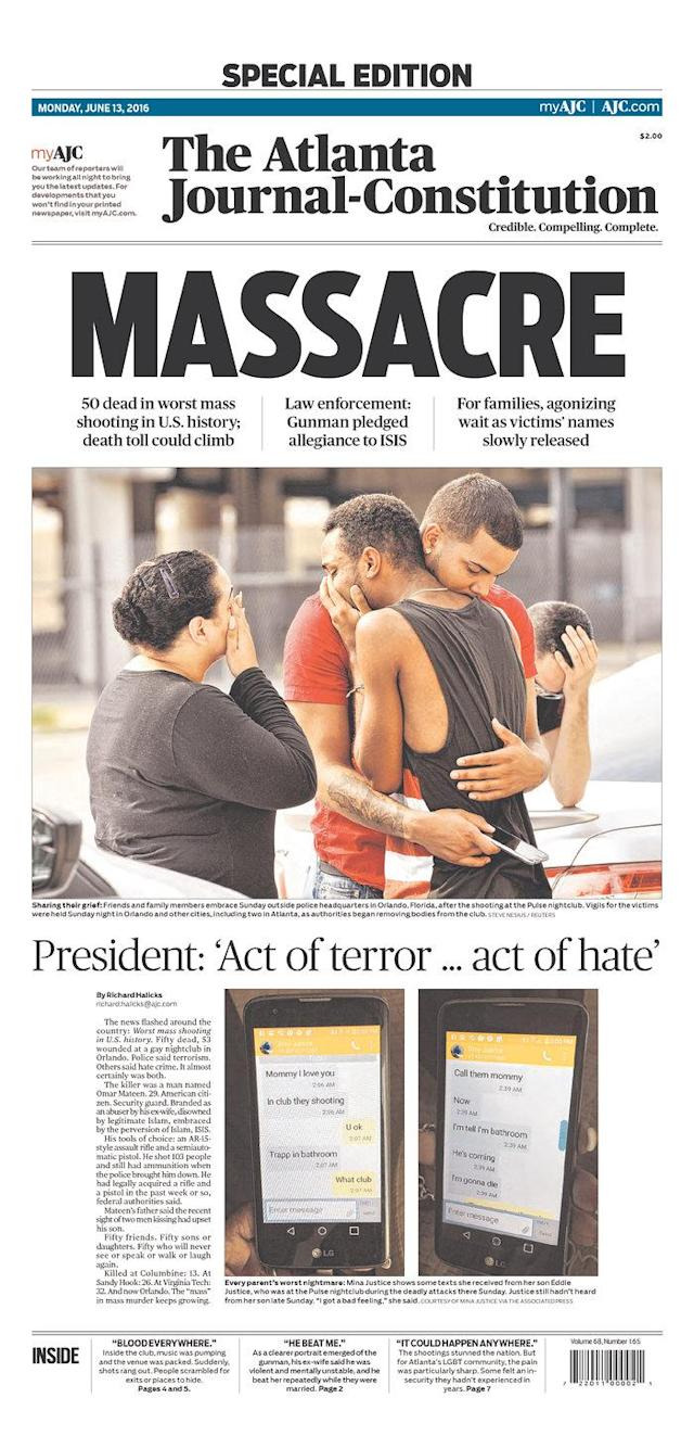 <p>The Atlanta Journal-Constitution<br> Published in Atlanta, Ga. USA. (newseum.org) </p>