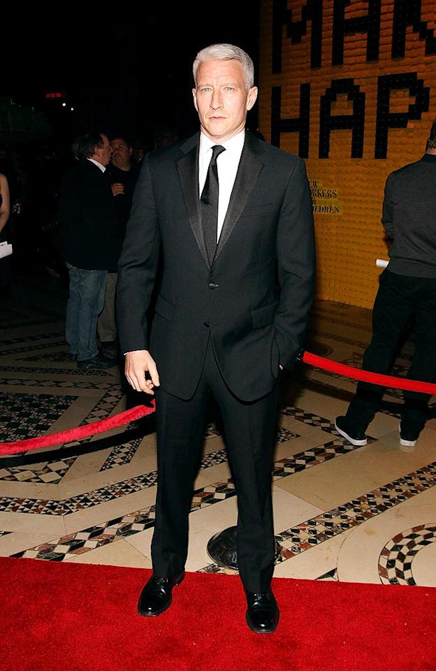 """Anderson Cooper arrived at the 10th Annual New Yorkers for Children Fall Gala, held at Cipriani 42 in Manhattan. The always dapper CNN anchor hosted the event. Donald Bowers/<a href=""""http://www.gettyimages.com/"""" target=""""new"""">GettyImages.com</a> - September 22, 2009"""