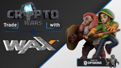 Blockchain Game 'CryptoWars' Partners with WAX and OPSkins Marketplace