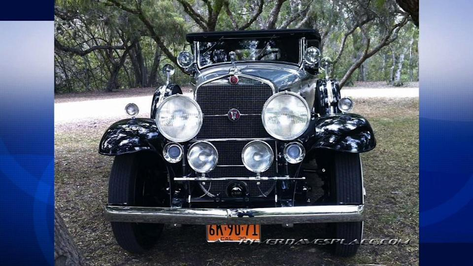 Stolen 1930 Cadillac V16 Roadster found in Highland
