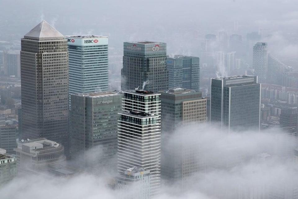 A cluster of banks in London's financial district, Canary Wharf. The bank in question was not named.  (Getty Images)