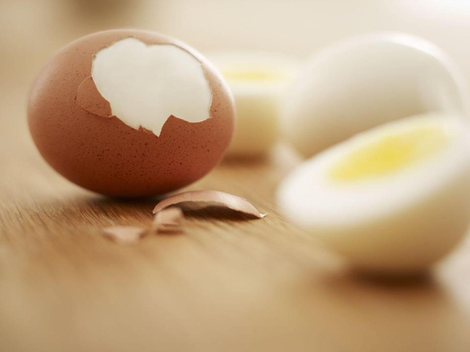 "<p>A plain, hard boiled egg may sound like a snooze, but since you can make 'em in bulk and season to taste, these are one of the easiest, most nutritious snacks you can have! Each egg packs up to 8 grams of protein, plus key nutrients like <a href=""https://www.goodhousekeeping.com/health/diet-nutrition/a48023/egg-nutrition/"" rel=""nofollow noopener"" target=""_blank"" data-ylk=""slk:choline and beta-carotene"" class=""link rapid-noclick-resp"">choline and beta-carotene</a>, which are crucial for heart health and immunity. </p><p><b>RELATED: </b><a href=""https://www.goodhousekeeping.com/food-recipes/cooking/tips/a19189/cooking-perfect-hard-boiled-eggs/"" rel=""nofollow noopener"" target=""_blank"" data-ylk=""slk:How to Make Perfect Hard-Boiled Eggs Every Time"" class=""link rapid-noclick-resp"">How to Make Perfect Hard-Boiled Eggs Every Time</a></p>"
