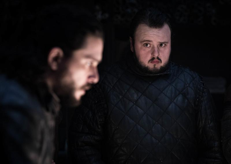 Kit Harington as Jon Snow and John Bradley as Samwell Tarly in <i>Game of Thrones</i>. (Photo: Helen Sloan/HBO)