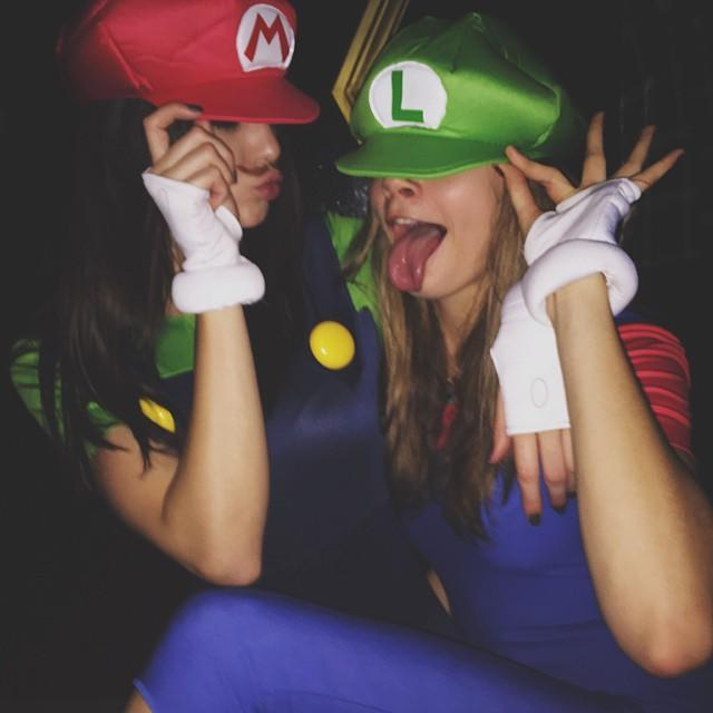 """<p>Yep, the Mario Bros. go way back to 1983, when the duo got their own arcade game. So basically, this Mario and Luigi classic costume is perfect for gamers going to a throwback Halloween party. </p><p><a href=""""https://www.instagram.com/p/u2apJuDoz5/?utm_source=ig_embed&utm_campaign=loading"""" rel=""""nofollow noopener"""" target=""""_blank"""" data-ylk=""""slk:See the original post on Instagram"""" class=""""link rapid-noclick-resp"""">See the original post on Instagram</a></p>"""