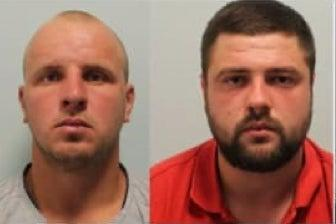 <p>Two of the four men sentenced to prison. Octavian Lupu and Dmitri Ceban</p> (Met Police)