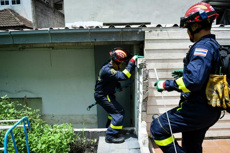 Thai firefighters are often called out to deal with snakes in homes if they have rates, or during the rainy season when hatchlings are born
