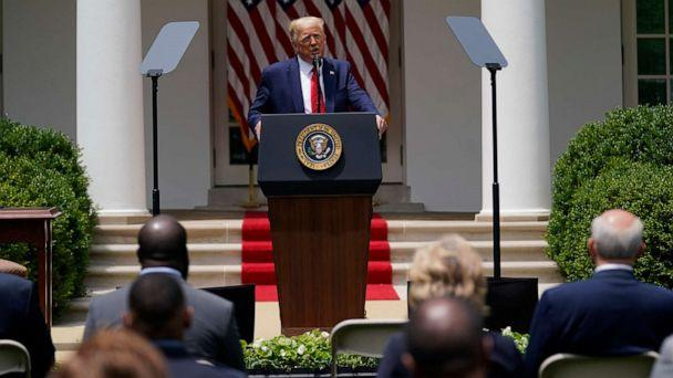 PHOTO: President Donald Trump speaks during an event on police reform, in the Rose Garden of the White House, June 16, 2020, in Washington. (Evan Vucci/AP)