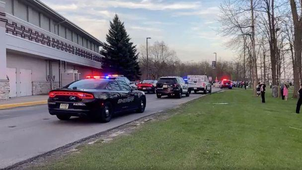 PHOTO: Dozens of law enforcement vehicles reported to an active shooter situation at Oneida Casino in Green Bay, Wis., on May 1, 2021. (John Melotte/Green Bay Crime Reports)