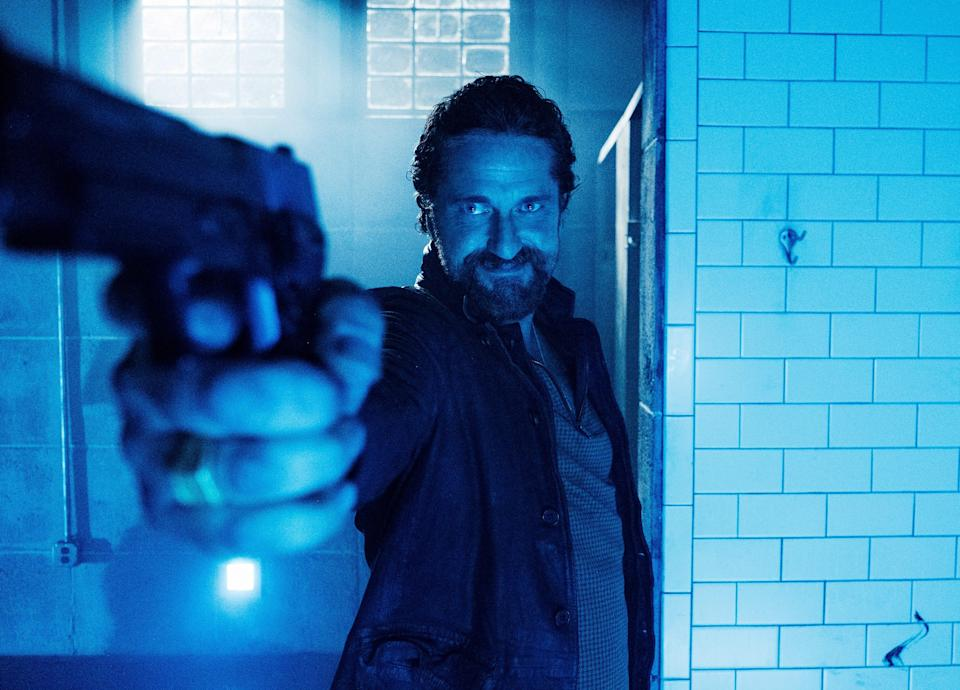 """Gerard Butler stars as a hitman on the loose in a Nevada police department in the action thriller """"Copshop."""""""