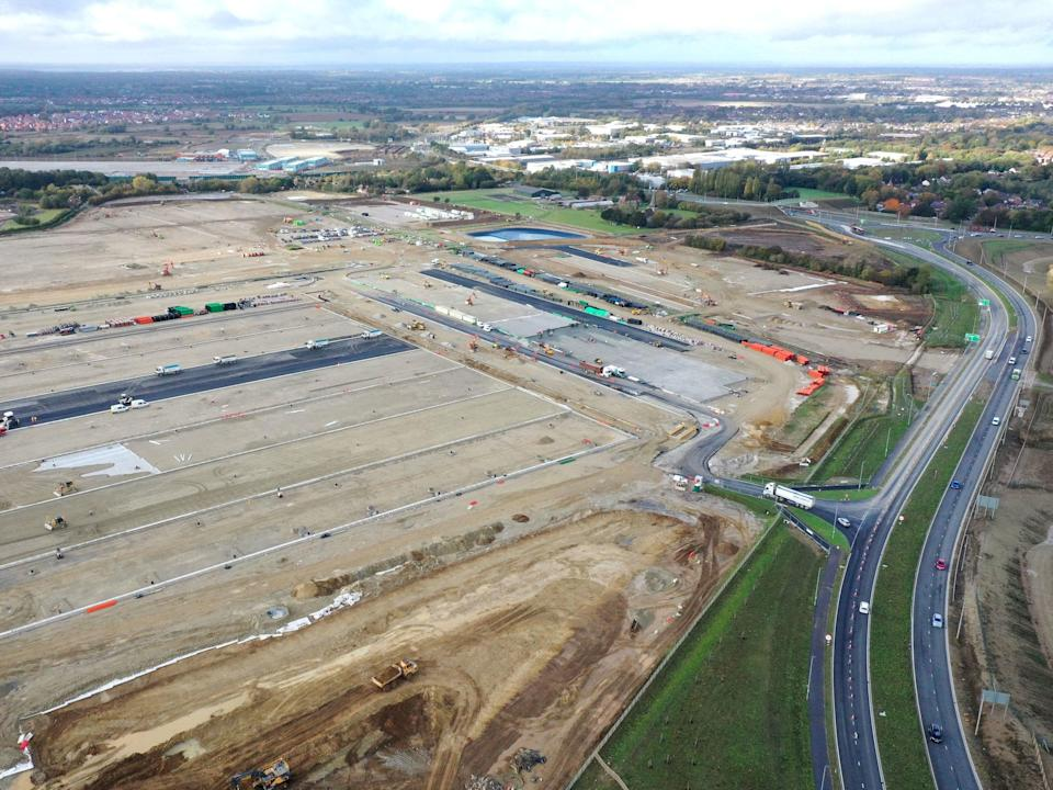 A view of the area near Sevington in Ashford, Kent, where the government is developing the 27-acre site (PA)