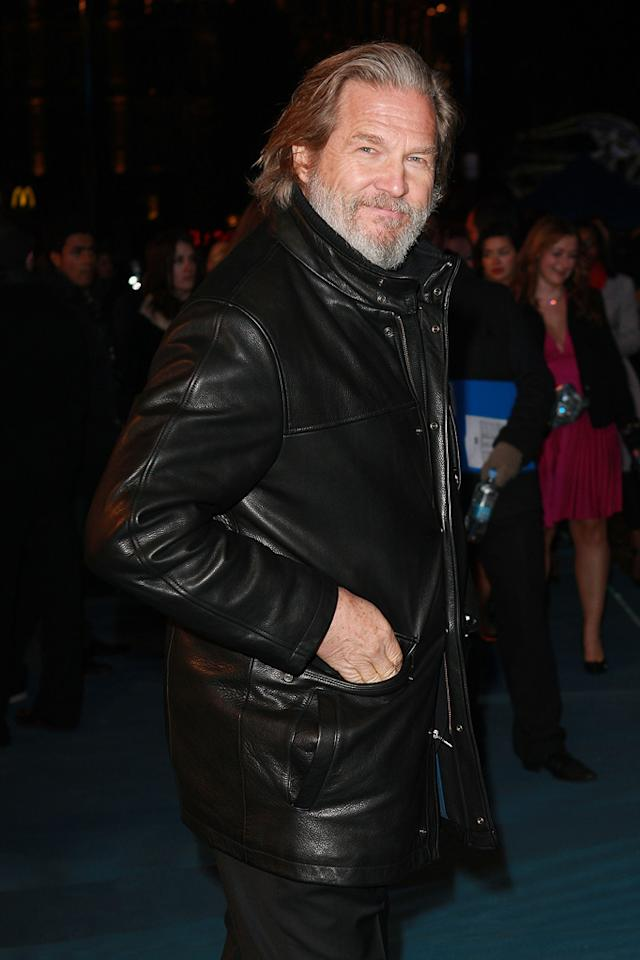 """<a href=""""http://movies.yahoo.com/movie/contributor/1800011634"""">Jeff Bridges</a> arrives at the London premiere of <a href=""""http://movies.yahoo.com/movie/1810096458/info"""">TRON: Legacy</a> on December 5, 2010."""
