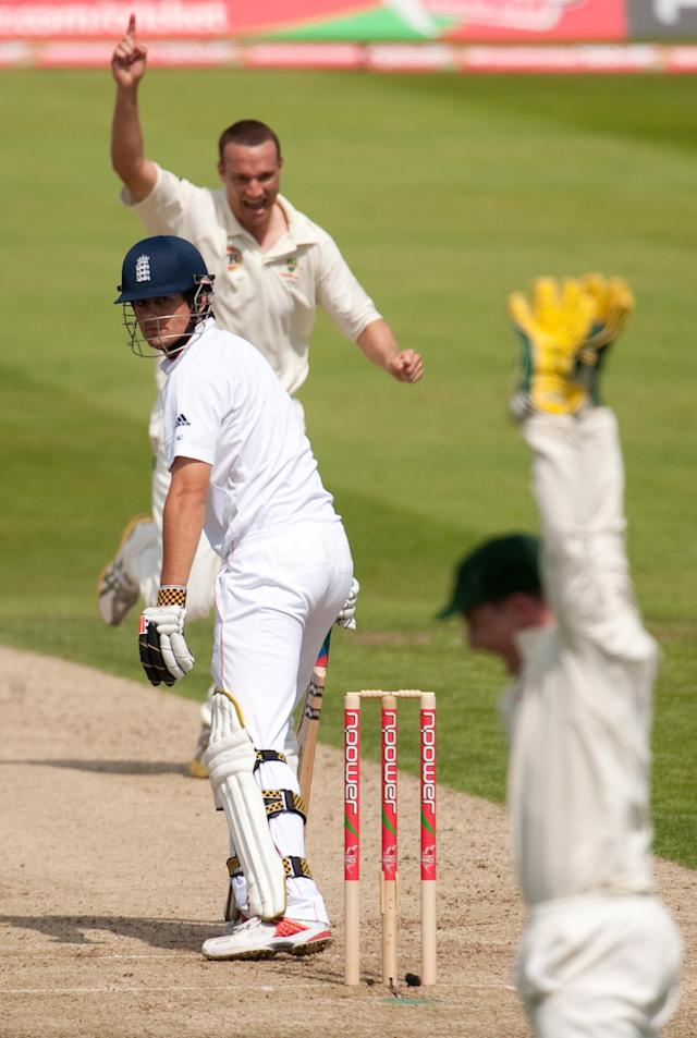 <p>Two hundreds against the West Indies cemented Cook's place for the 2009 Ashes series, which saw the opener get his first taste of success against the Aussies. Runs were not always easy to come by for him though. (Getty Images) </p>