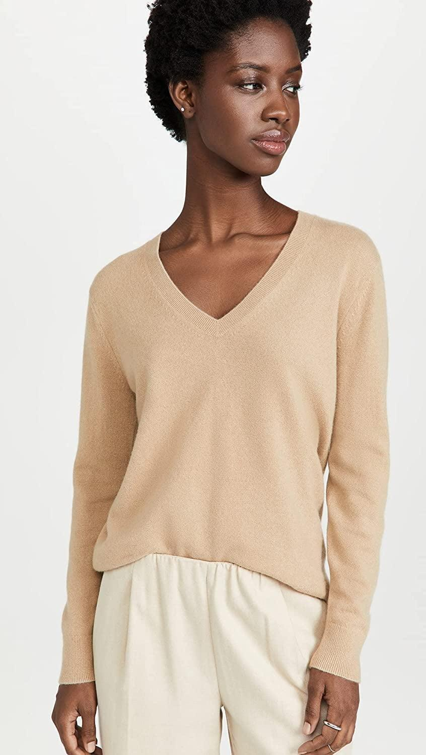<p>This <span>Vince Weekend V-Neck</span> ($295) is always a good thing to have in your closet. There are so many outfits to put together with it.</p>