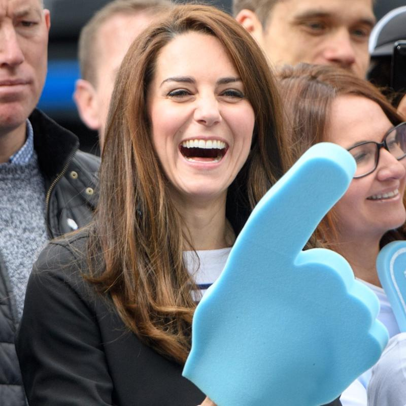 The Duchess of Cambridge cheers on - Credit:  Tim Rooke/REX/Shutterstock