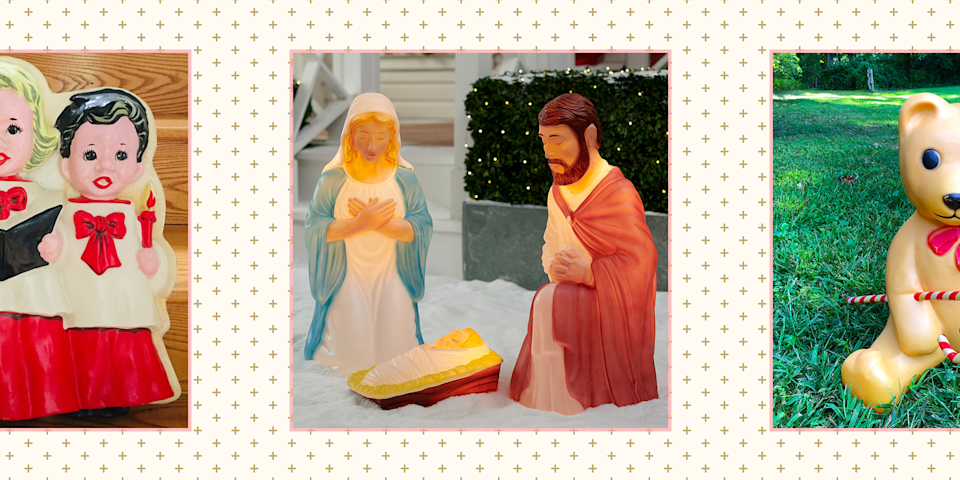 """<p>Blow mold decorations are coming back in a big way for Christmas 2020. The glowing, plastic figures that were huge throughout your childhood are in demand as more and more people crave nostalgic and <a href=""""https://www.goodhousekeeping.com/holidays/christmas-ideas/g28998983/vintage-christmas-decorations-ornaments/"""" rel=""""nofollow noopener"""" target=""""_blank"""" data-ylk=""""slk:vintage Christmas decorations"""" class=""""link rapid-noclick-resp"""">vintage Christmas decorations</a>. """"In an age of social media, shoppers are increasingly looking to stand out from the crowd and vintage is a surefire way to find that one-of-a-kind piece that no one else will have,"""" explains <a href=""""https://go.redirectingat.com?id=74968X1596630&url=https%3A%2F%2Fwww.etsy.com%2F&sref=https%3A%2F%2Fwww.goodhousekeeping.com%2Fholidays%2Fchristmas-ideas%2Fg29074410%2Fbest-christmas-blow-molds%2F"""" rel=""""nofollow noopener"""" target=""""_blank"""" data-ylk=""""slk:Etsy"""" class=""""link rapid-noclick-resp"""">Etsy</a> trend expert Dayna Johnson, """"all while shopping sustainably by giving an existing product a new life."""" </p><p>That's why we've gathered a list of the best Christmas blow molds (including Santa!) from generations ago that you can still buy today — as well as a few brand-new ones that are safe to put outside in winter weather. Note that since many of these are rare items, products are prone to sell out fast. But we're finding that the best places to find these blow molds are <a href=""""http://amazon.com?tag=syn-yahoo-20&ascsubtag=%5Bartid%7C10055.g.29074410%5Bsrc%7Cyahoo-us"""" rel=""""nofollow noopener"""" target=""""_blank"""" data-ylk=""""slk:Amazon"""" class=""""link rapid-noclick-resp"""">Amazon</a>, Etsy, and <a href=""""https://go.redirectingat.com?id=74968X1596630&url=http%3A%2F%2Facehardware.com&sref=https%3A%2F%2Fwww.goodhousekeeping.com%2Fholidays%2Fchristmas-ideas%2Fg29074410%2Fbest-christmas-blow-molds%2F"""" rel=""""nofollow noopener"""" target=""""_blank"""" data-ylk=""""slk:Ace Hardware"""" class=""""link rapid-noclick-resp"""">Ace Hardware</a>. No matter wh"""