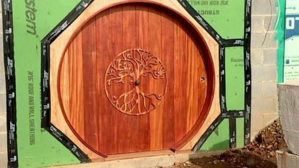 PHOTO: A 'Lord of the Rings' fan in Woodfin, N.C. builds an Airbnb hobbit home. (WLOS)