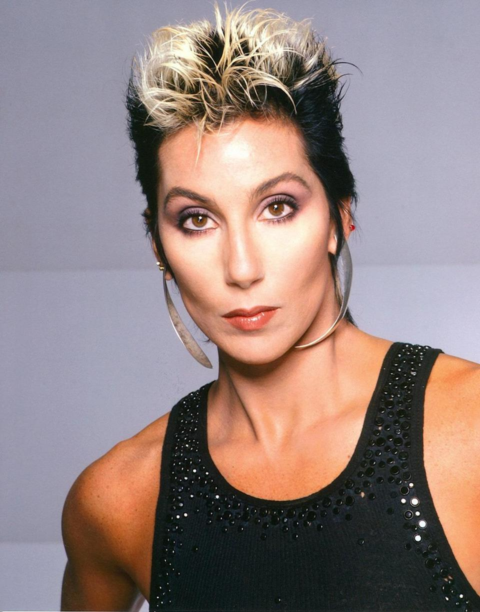 <p>Cher, seen here a year before her stellar turns in the films <i>Silkwood</i> and <i>Mask,</i> leaped headlong into the future with a fierce nod to punk. <i>(Photo: Getty Images)</i></p>