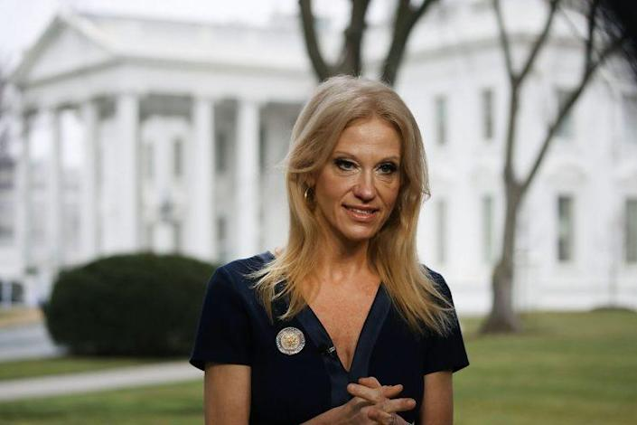 Kellyanne Conway prepares to appear on
