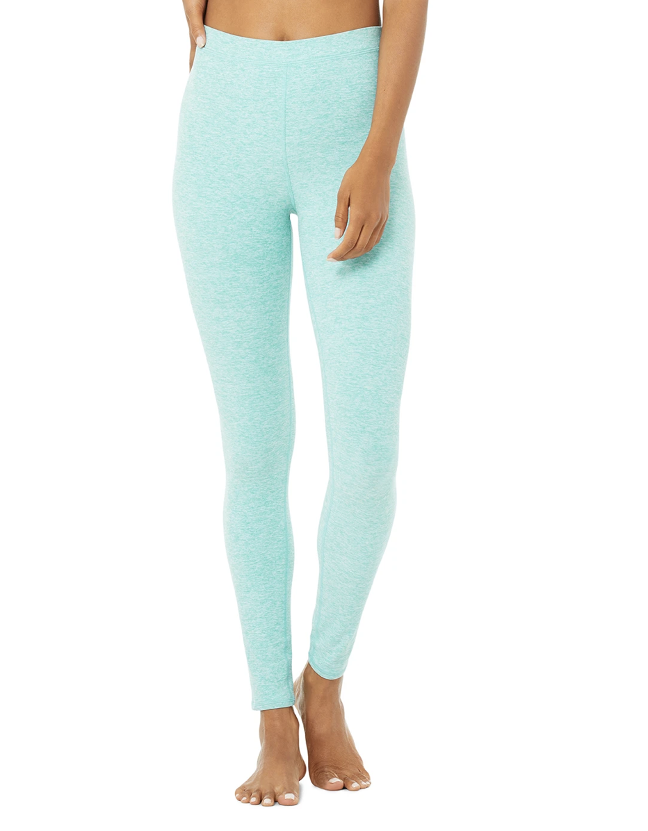 "<p><strong>Key selling points:</strong> If you like high-rise styles but prefer a thin waistband, you'll love this legging for its seamless fit. Because it's made from the same Alosoft fabric as the Lounge Legging up top, this minty number ticks off the ""mind-blowingly cozy"" checkbox. The flat stitches on the waistband won't dig into your skin either.</p> <p><strong>What customers say:</strong> ""I am really impressed with the quality of the material and fit. The fit is gorgeous, they look super cute and the material is excellent in quality and thickness. They also wash super well too! Like all my leggings from Alo, they retain their original shape when they're washed rather than giving over time!"" —<a href=""https://cna.st/affiliate-link/Z4VF5z94N1owhV2BCFSvuiSgyxeKomueTSCTCxsEvKnkzWroK7piefGeBRvu3QCyDYTAenbhR7VQrwjG1mXV7nAb4qtSPYRAffdfhsYVv1XNifGRasyipncuiL4Cv9rusV3RB4hDo8m2W4uikDUJFA6FXy1JueheyzsUJ?cid=603415c25d7be6c90b6d5c43"" rel=""nofollow noopener"" target=""_blank"" data-ylk=""slk:Victoria H."" class=""link rapid-noclick-resp""><em>Victoria H.</em></a></p> $88, Alo Yoga. <a href=""https://www.aloyoga.com/products/w5941r-high-waist-alosoft-flow-legging-blue-quartz-heather"" rel=""nofollow noopener"" target=""_blank"" data-ylk=""slk:Get it now!"" class=""link rapid-noclick-resp"">Get it now!</a>"