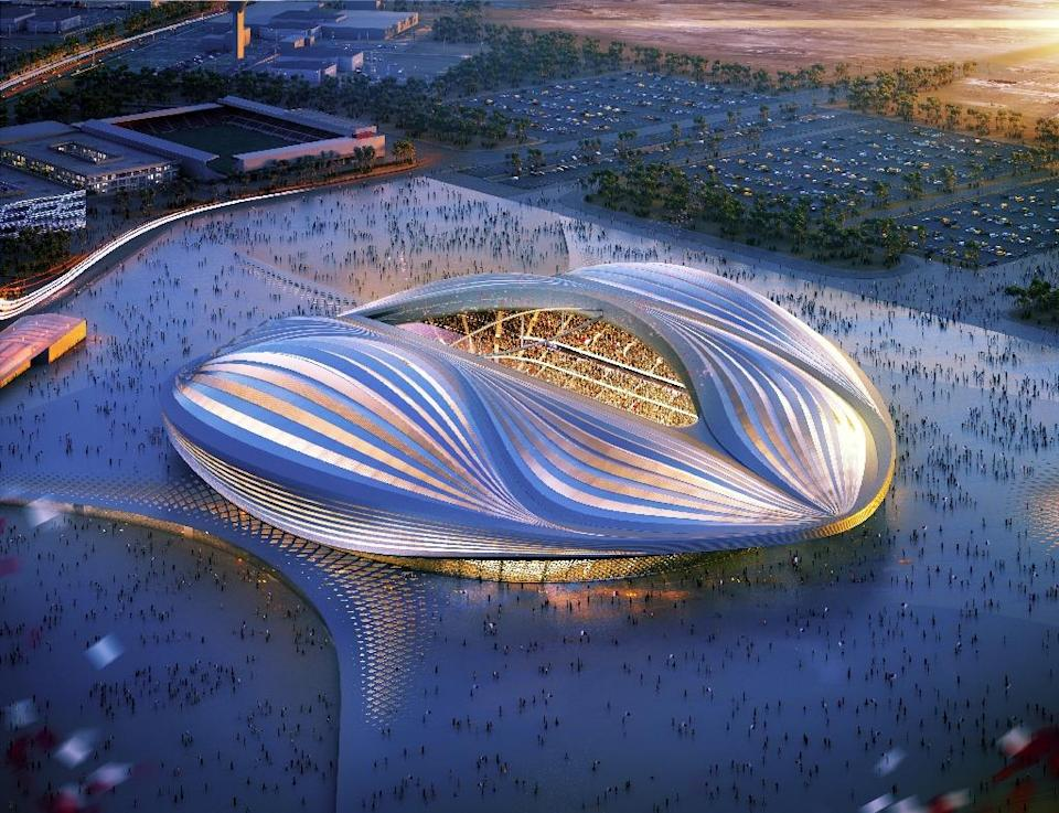 A computer-generated image of the Al-Wakrah stadium which is being built for Qatar's 2022 World Cup (AFP Photo/)