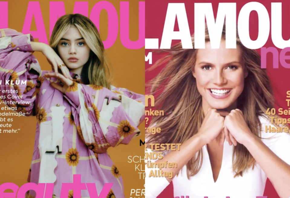 Leni Klum appears on Glamour Germany cover 20 years after mother Heidi Klum. (Photo: Instagram/Glamour Germany)