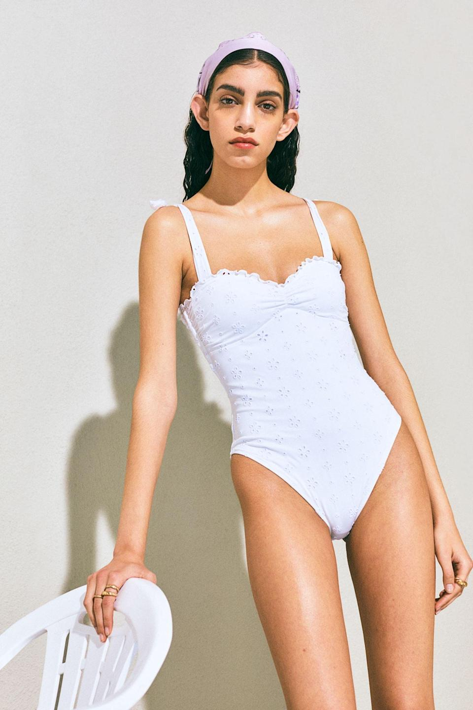 <p>This <span>Padded-cup Swimsuit</span> ($40) is ready for your next beach day.</p>