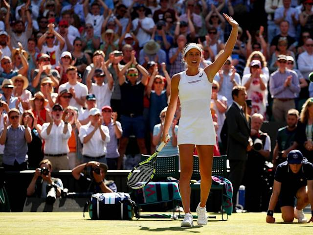 Earlier this year Konta became the first British woman since 1978 to reach the Wimbledon singles semi-finals (Getty Images)
